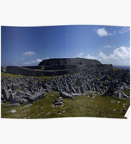 Dun  Aengus Fort, Inishmore, Aran Islands   Poster