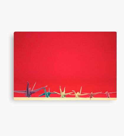 Paper Crane Family Canvas Print