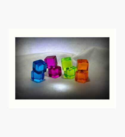 Multi Colored Cubes Art Print