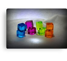 Multi Colored Cubes Canvas Print