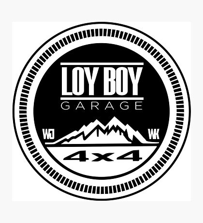 Loy Boy Garage Photographic Print