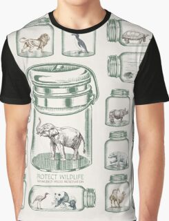 Protect Wildlife - Endangered Species Preservation  Graphic T-Shirt