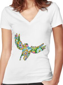 Pegasus Women's Fitted V-Neck T-Shirt