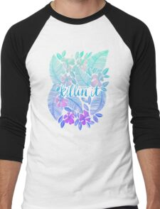Killin' It – Turquoise + Lavender Ombré Men's Baseball ¾ T-Shirt