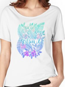 Killin' It – Turquoise + Lavender Ombré Women's Relaxed Fit T-Shirt