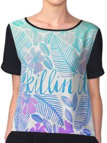 Killin' It – Turquoise + Lavender Ombré Chiffon Top