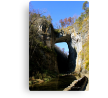 Natural Bridge ~ A Miracle in Stone Canvas Print