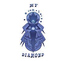 My Diamond, White Diamond!  Photographic Print