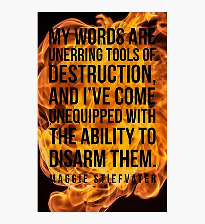 Words of Destruction Photographic Print