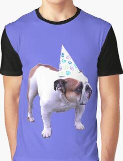 Bulldog Birthday Graphic T-Shirt