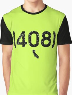Area Code 408 California Graphic T-Shirt