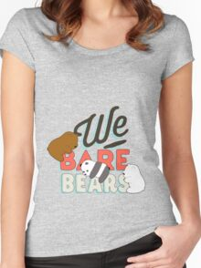 We Bare Bears Women's Fitted Scoop T-Shirt