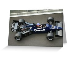 Tyrell F1 Historic Greeting Card
