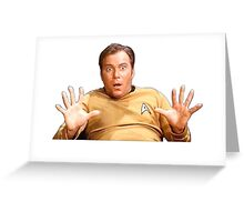 William Shatner - Jim Kirk Greeting Card