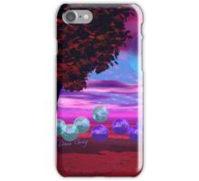 Bubble Garden, Abstract Rose, Violet & Azure Wisdom iPhone Case/Skin