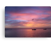Sunset in Aruba Canvas Print