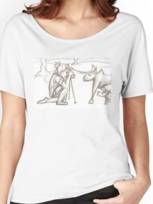 Photographer and wolves Women's Relaxed Fit T-Shirt