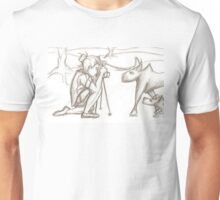 Photographer and wolves Unisex T-Shirt