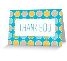 Polka Dot Thank You Greeting Card