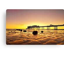 Pink Skies at Cromer Canvas Print