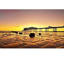 Pink Skies at Cromer Photographic Print