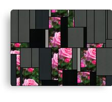 Pink Roses in Anzures 1 Art Rectangles 7 Canvas Print