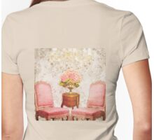 Hotel Regina circa 1900 Paris France south salon Womens Fitted T-Shirt