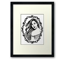Girl in the Mirror Framed Print