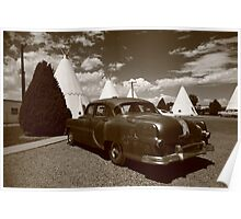 Route 66 - Wigwam Motel and Classic Car Poster