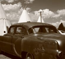 Route 66 - Wigwam Motel and Classic Car Sticker