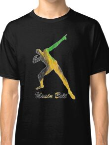 Usain Bolt Jamaica Man Design Classic T-Shirt