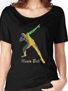 Usain Bolt Jamaica Man Design Women's Relaxed Fit T-Shirt