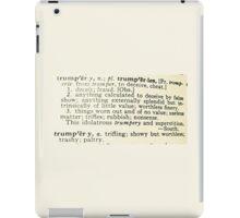Trumpery Definition iPad Case/Skin