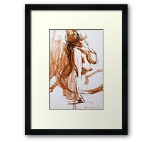 Voluptuous Figure Framed Print
