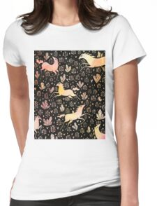 Marshmallow ponies Womens Fitted T-Shirt