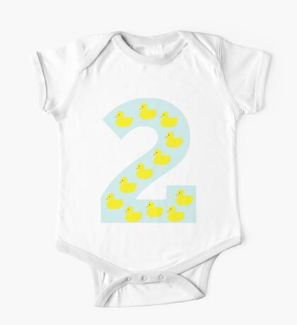 Duckling number 2 blue One Piece - Short Sleeve