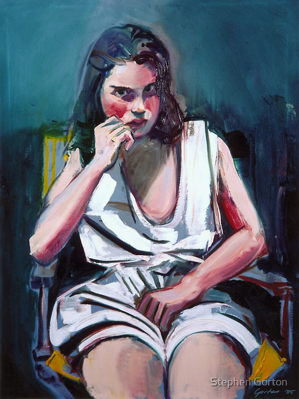 Portrait of a Young Girl - Alexandra by Stephen Gorton
