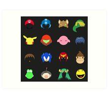 Simple Smash Bros! Art Print