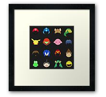 Simple Smash Bros! Framed Print