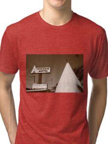 Route 66 - Wigwam Motel Tri-blend T-Shirt