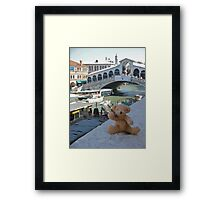 Little Ted in Venice Framed Print