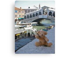 Little Ted in Venice Canvas Print