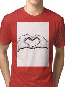 Heart Hands Tri-blend T-Shirt