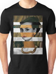 Frida Kahlo's Self Portrait with Monkey & Audrey Hepburn Unisex T-Shirt
