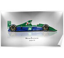 Michael Schumacher - Jordan 191 - Spotlight Art Print Poster
