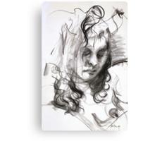 Janine (Black Pastel) Canvas Print
