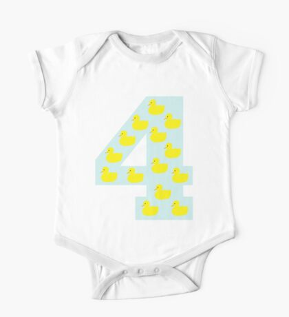 Duckling number 4 blue One Piece - Short Sleeve