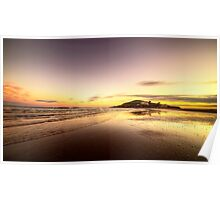 Bantham Beach Reflections  Poster