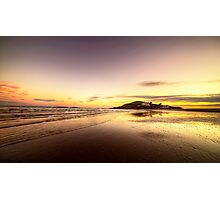 Bantham Beach Reflections  Photographic Print