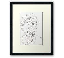 Brett Whiteley Sketch Framed Print